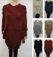 Knitted Shawl with Fringe [Diagonal Diamond Knit]
